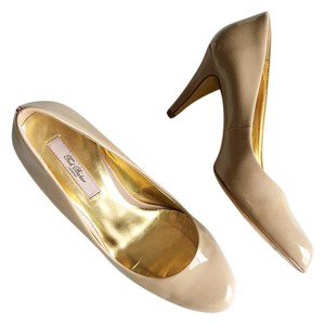 Ted Baker Patent Gold Nude Pumps