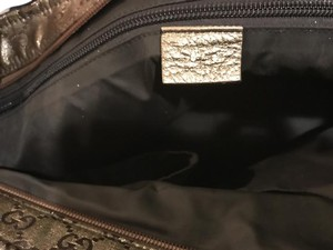 Gucci Tote in Metallic Brown and Gold