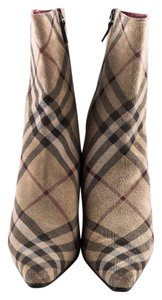 Burberry Ankle Suede Nova Plaid Boots