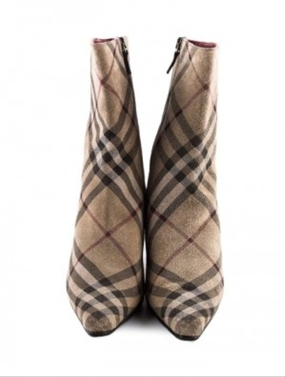 Burberry Ankle Plaid Suede Nova Plaid Boots