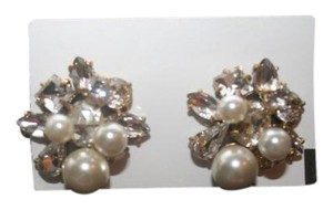 J.Crew J.CREW PEARL AND CRYSTAL EARRINGS