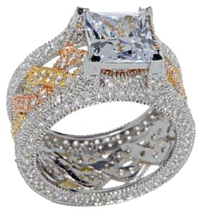 Victoria Wieck 5.9 absolute tricolor pave cushion cut.