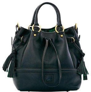 Dooney & Bourke Buckley Florentine Large Drawstring Satchel in Black