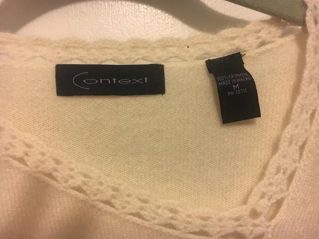 Context Cashmere White Sweater Image 2