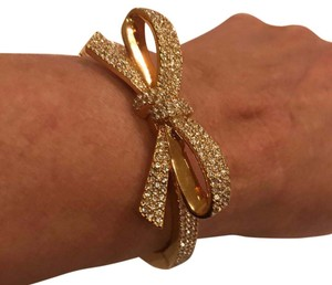 Kate Spade gold and diamond bow bracelet Kate Spade