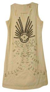 Arden B. short dress White Linen Aztec Sequin on Tradesy