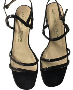 Adrienne Vittadini Sandal Patent Leather Summer Black Sandals