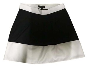 The Limited Textured Work Wear Mini Skirt Black/ white color block