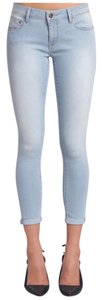 Mavi Jeans Ankle Cuffed Fitted Skinny Jeans-Light Wash