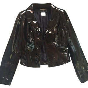 Chanel Patent Leather Leather Jacket
