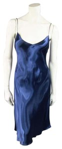 Ralph Lauren Collection short dress Blue Slip Glossy Fitted A-line V-neck on Tradesy