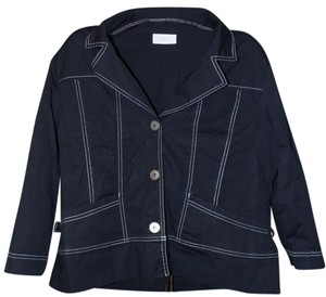 Chico's Classic Detail Bold Shift Soft Navy Jacket