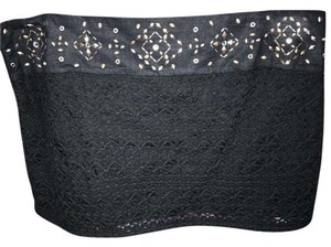 Hollister Mini Lace Embellishment Skirt NAVY