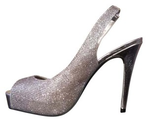 Guess Glitter Cute Silver Pumps