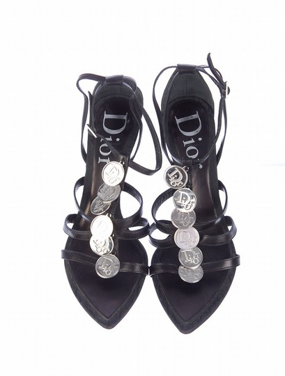 Preload https://img-static.tradesy.com/item/204711/dior-black-christian-silver-coin-sandals-size-us-65-0-0-540-540.jpg
