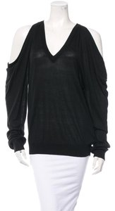 Michael Kors Cashmere V-neck Cut-out Silk Sweater