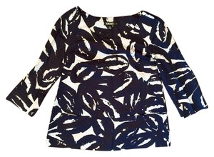 DKNY Top Navy Blue & White