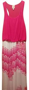 Pink and w Maxi Dress by Pink Owl