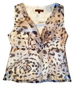 Adrienne Vittadini Top Neutral Animal Print