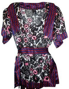 Custo Barcelona Color-blocking Bold Contrast Print Signature Tunic