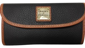 Dooney & Bourke Pebble Leather Black Continental Wallet Clutch