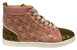 Christian Louboutin Bip Flat High Lace Leather pink Athletic