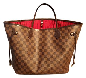 Louis Vuitton Neverfull Mm Damier Ebene Tote in Brown