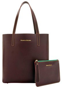 Dooney & Bourke Waverly Pouch Tassel 2 Piece Set Tote in Brown T'Moro