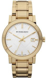 Burberry Unisex Swiss Gold Ion-Plated Stainless Steel Bracelet 38mm BU9003