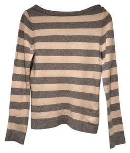 J.Crew Striped Cashmere Wool Boatneck Sweater