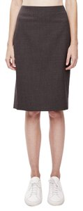 Theory Golda Stretch Wool Pencil Pencil Skirt Charcoal