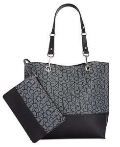 Calvin Klein Reversible Signature New Tote in Black