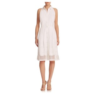 Carmen Marc Valvo Eyelet Collar Dress