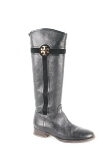 Tory Burch Leather Suede Black Boots