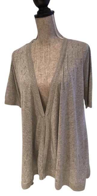 Preload https://img-static.tradesy.com/item/20471697/dkny-gray-perforated-design-v-neck-small-cardigan-size-6-s-0-4-650-650.jpg