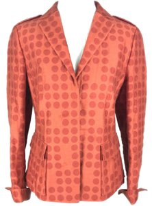 Akris Punto Polka Dot Blend Orange Blazer