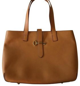 Fossil Satchel in Camel