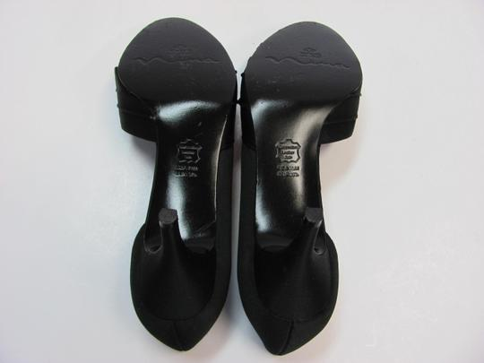 Nina Size 7.50 M Leather Soles Very Good Condition Black Sandals Image 4