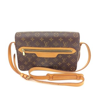 Louis Vuitton Monogram Canvas Saint Germain Front Flap Leather Cross Body Bag