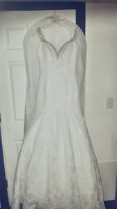 Allure Bridals White Lace 9111 Vintage Wedding Dress Size 10 (M)