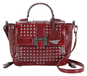 Rebecca Minkoff Leather Red Gunmetal Elle New With Cross Body Bag