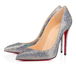 Christian Louboutin So Kate Disco 120mm Glitter Silver Pumps
