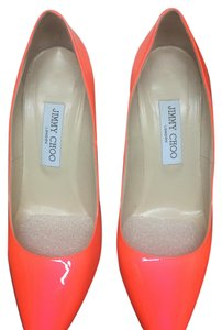 Jimmy Choo Neon Orange Pumps