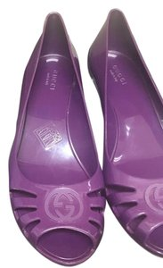 Gucci Purple Wedges