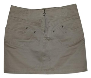 A|X Armani Exchange Mini Skirt Beige
