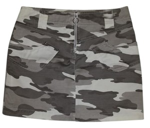 A|X Armani Exchange Mini Skirt Gray camouflage