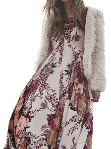 ivory, pink, brown Maxi Dress by Free People