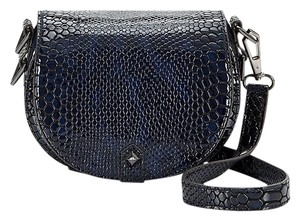 Rebecca Minkoff Leather Gunmeatal Astor Cross Body Bag