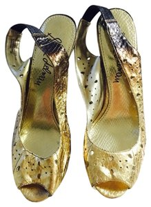 Sam Edelman Gold/brown Wedges