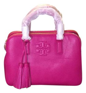 Tory Burch Satchel in Carnation Red